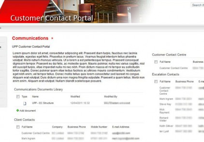 SharePoint Extranet – Facilities Management