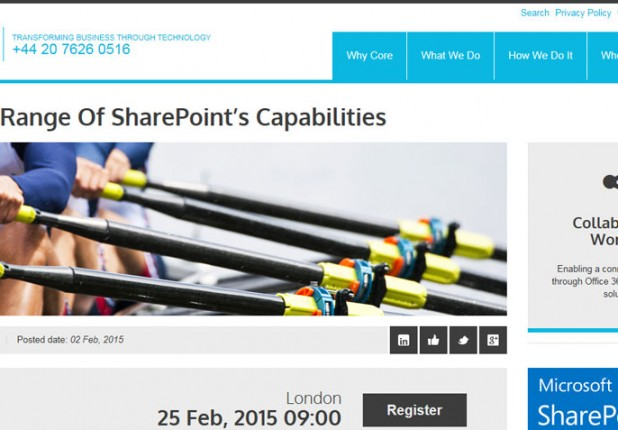 Core – SharePoint Public Website