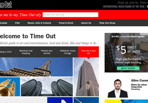 Time Out Global – WordPress Website